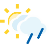 Intervalos nubosos con lluvia escasa